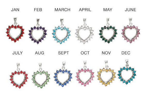 Classic Birthstone Heart Necklace