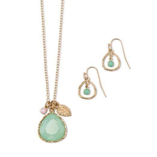 Golden Eagle Necklace & Earring Set