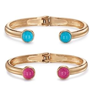 Hinge Bangle Pink and Hinge Bangle Turquoise