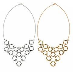 Keystone Statement Necklace 1 Siver 1 Gold