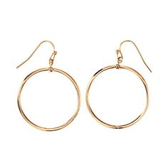 Luna Drop Earrings Goldtone