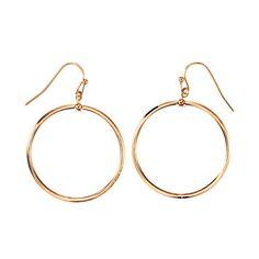Luna Drop Earrings Goldtone