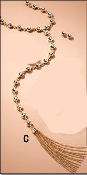 Maya Tasseled Y Necklace and Earrings