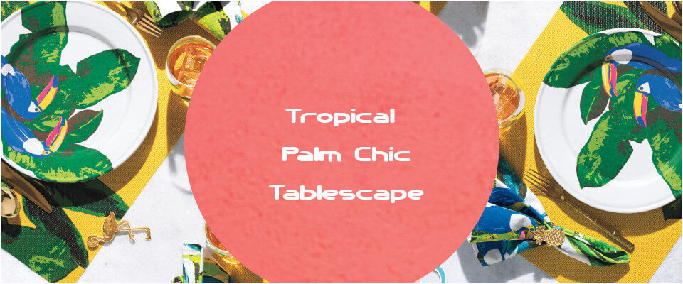 Palm Chic Tropical Party Tablescape Idea