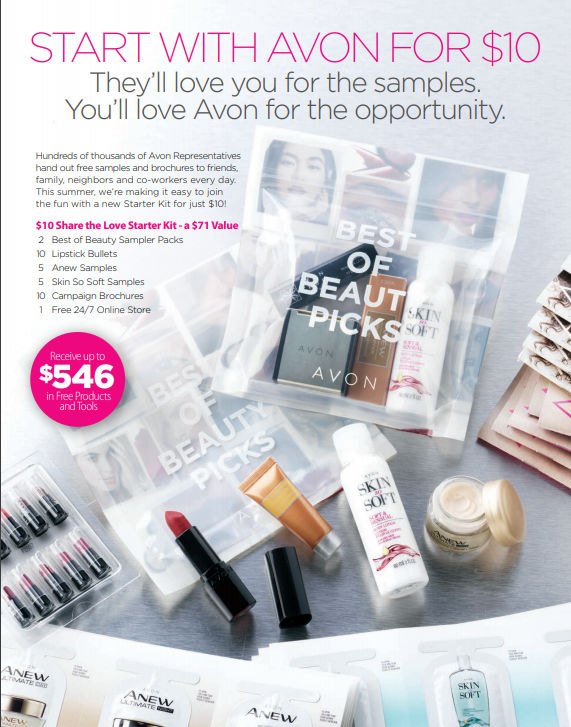 Start Avon with $10 July 11th to Aug 6th 2018
